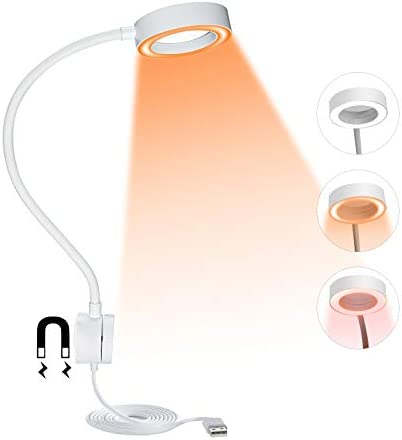 BEIGAON LED Bedside Reading Lamp 3 Lighting Modes with Stepless Dimming Flexible Gooseneck Wall product image