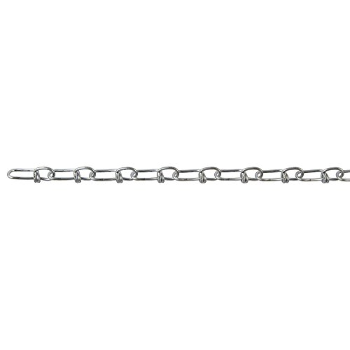 Perfection Chain Products 13011 #3 Double Loop Chain, Bright Galvanized, 50 FT Carton