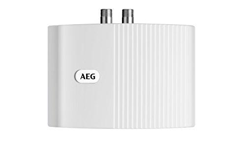 AEG hydraulischer Klein-Durchlauferhitzer MTH 350  für Handwaschbecken, 3,5 kW, drucklos, Über-/Untertischmontage, steckerfertig, 189554