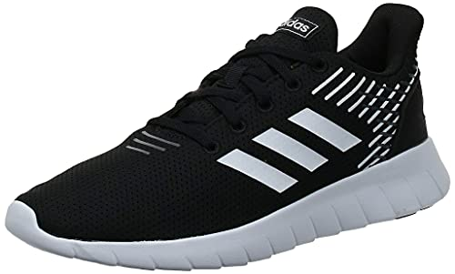 Adidas Asweerun Scarpe da Running Uomo, Nero (Negbás/Ftwbla/Grisei 000), 43 1/3 EU
