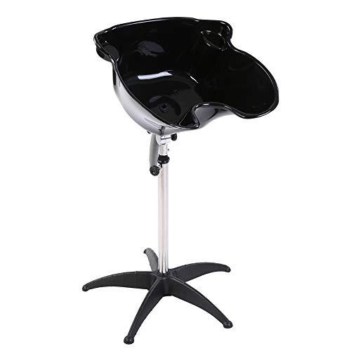 EBTOOLS Lavacabezas portátil para peluquería, cuenco para tratamiento del cabello, cuenco para peluquería, altura ajustable 100-136 cm, ángulo ajustable