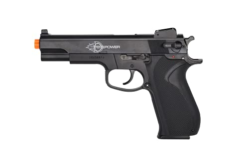 Soft AIR USA Firepower 45 Spring Airsoft Pistol with Metal Slide, Black, 328 FPS