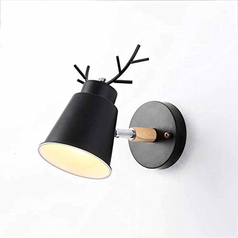 Nordischen stil Moderne Kreative Wandleuchten Lichter Wandleuchten Dekoration kinderzimmer kindergarten Shop Wohnzimmer Schlafzimmer Nachttischlampe,schwarz