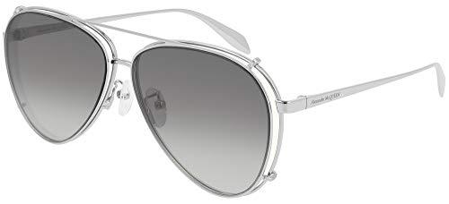 Alexander McQueen Gafas de Sol AM0263S Silver/Grey Shaded 62/12/145 unisex