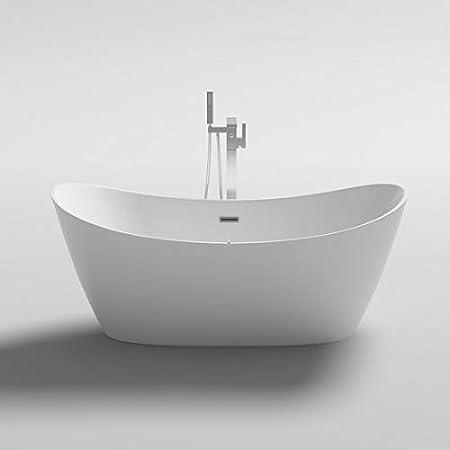 Bagno Italia Vasca Da Bagno 170x80x72 Cm Centro Stanza Freestanding Bianco Lucido Stile Moderno Design Amazon It Fai Da Te