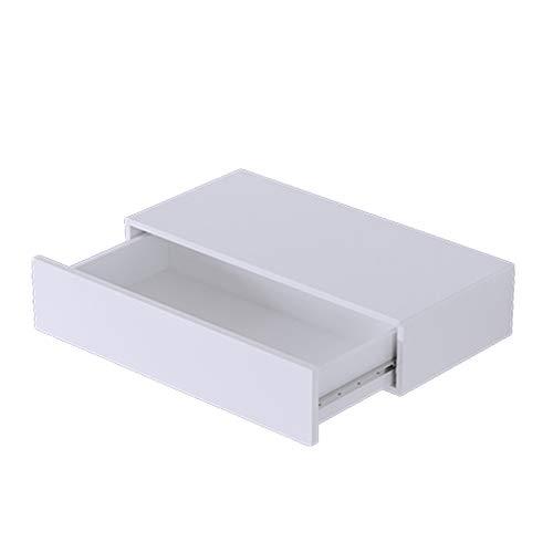 QIANDA Estantes Flotantes de Pared Soporte De Pared para Almacenamiento Tablero Artificial Dormitorio del Cajón Mesita De Noche del Aparador, Blanco, 2 Tallas (Tamaño : 45 x 20 x 13cm)