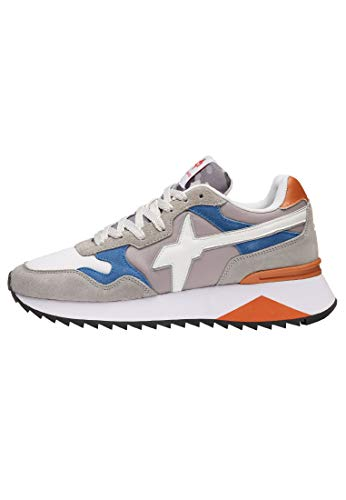 w6yz Yak-M.-Sneaker in Tessuto e Pelle-Grigio-Bianco Grigio 42