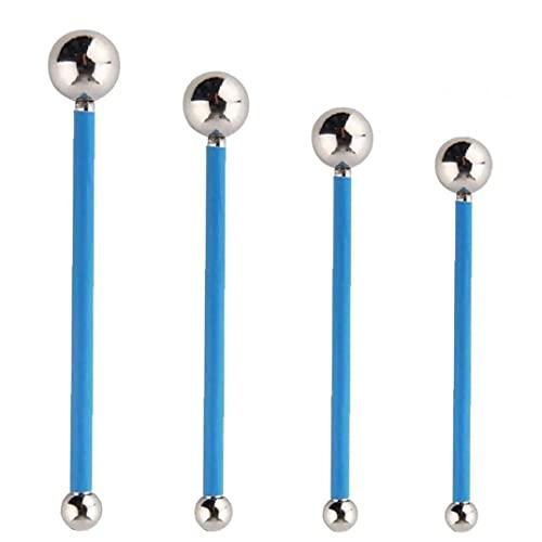 Herramienta de calafateo encimera Kit de herramientas de calafateo del azulejo Kit de reparación del piso junta de hormigón para el azulejo de costura azul 4PCS