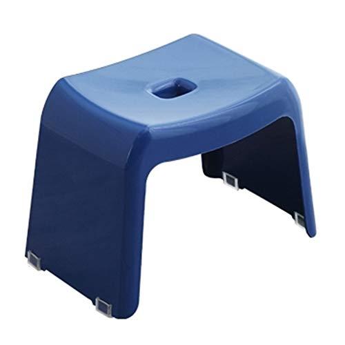 KKCF Asiento para Ducha Antideslizante Fuerte Carga Silla De Casa Taburete Cuadrado Estilo Japones El Plastico, 4 Colores (Color : Azul, Tamaño : 33.5x20.5x19cm)