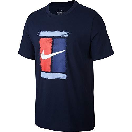 Nike Court Men's Tennis T-Shirt Obsidian CU0329-451 (L)