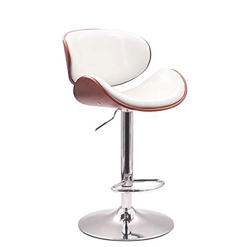 XHHWZB Flash Furniture Noce Bentwood Regolabile in Altezza Curvo Schienale in Vinile Sgabello da Bar Regolabile in Altezza Girevole in Noce di Noce