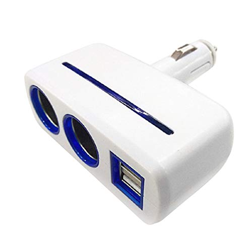 Yoging - Dispensador de mecheros con lazo, ajustable, portátil, cargador de coche, adaptador de corriente doble USB