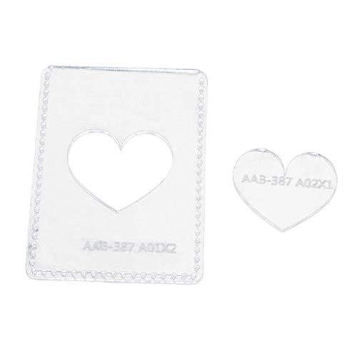 Sharplace Acryl Leder Vorlagen Muster Schablonen für Schlüsseltasche Schlüsselmäppchen zum Selbernähen, Lederhandwerkzeug - Herz