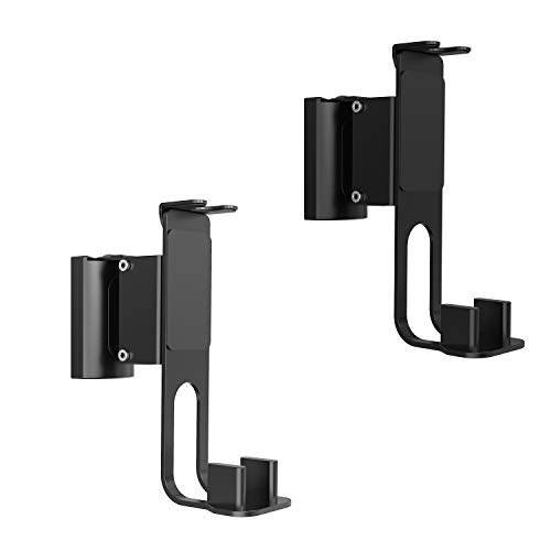 WALI Speaker Wall Mount Bracket for SONOS ONE, ONE SL and Play:1 Multiple Adjustments, Hold up to 6.6lbs, (SWM003-2), 2 Packs, Black