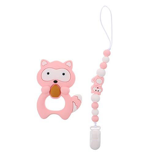 EXCEART Speenkoord Babyfopspeen Houder Leash Paci Clip Tandjes Bijtring Speelgoed Soothie Binky Houder Chewbeads For A Baby Zuigeling Pasgeboren