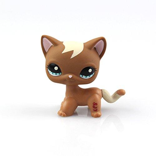 Littlest Pet Shop juguetes LPS Cat colección de figuras de animales para niños juguetes raras máscara de gato de pelo corto de pie (elegir su gato) para niños regalo 1pc