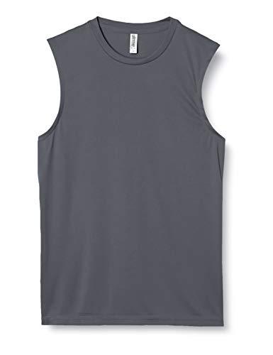 [グリマー] 袖無 3.5オンス インターロック ドライ ノースリーブ 00353-AIN ダークグレー L (日本サイズL相当)
