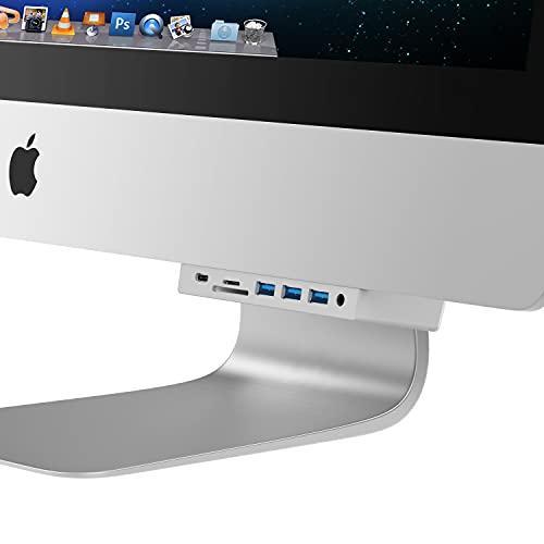 Sabrent Hub iMac multipuerto con puertos USB, lector de tarjetas SD / Micro SD, conector para auriculares de 3,5 mm y salida trasera HDMI 2.0 (HB-SIMC)