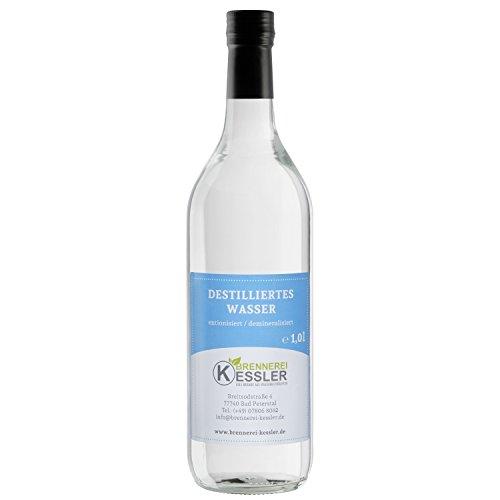 test Kessler Distillery Destilliertes Wasser (Aqua Destination) 1000ml in einer Glasflasche Deutschland