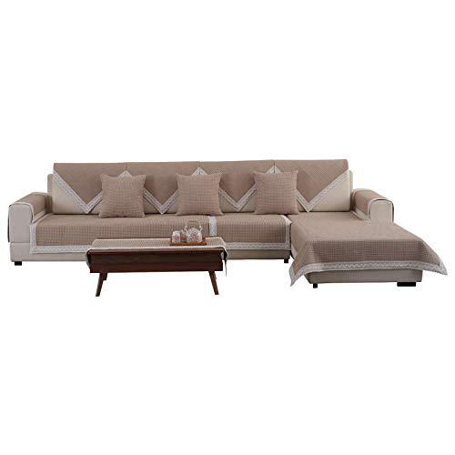 B/H Funda Sofa Suaves Resistentes,Cojín de sofá Antideslizante de algodón y Lino,cojín de sofá de Tela de moda-90×150 cm,Funda para sofá Antideslizante Moderno y Simple