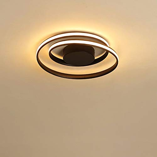 BFMBCHDJ Lámpara de cocina Sala de estar Lámpara de techo Led moderna redonda Lámpara de dormitorio Lámpara de estudio de oficina APLICACIÓN control remoto regulable Dia 46CM 50W
