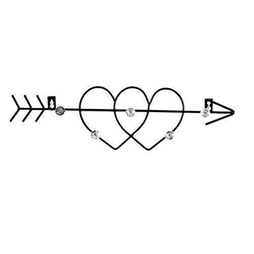 Cabilock Gancho de Pared de Hierro Gancho de Montaje en Pared Percha Flecha corazón Gancho de Pared Gancho Decorativo para el hogar