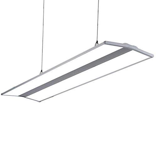 Plafonnier LED - Lampe suspendue de bureau - Lumière blanche - Design moderne rectangulaire - Lampe de bureau - Éclairage de bureau - Éclairage en aluminium acrylique - Hauteur réglable - 120cm x 30cm