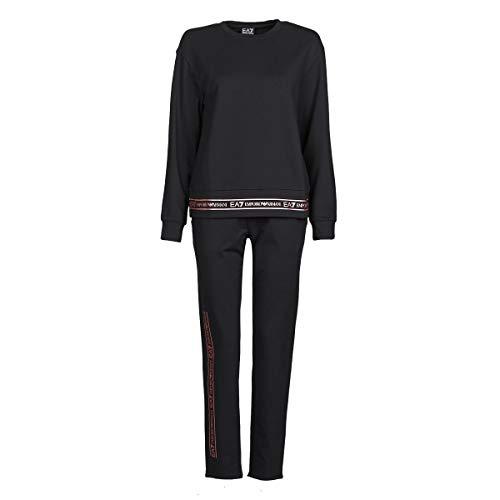 Emporio Armani EA7 Train Tracksuits W T-Suit Tt Cn Oh Shiny EXT. Logo Jogging & Sportbekleidung Damen Schwarz/Rose/Gold - L - Jogginganzüge Pants