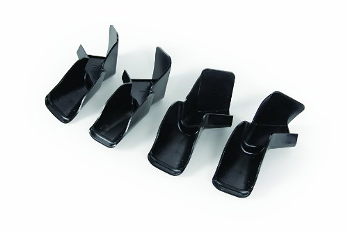 Camco 42323 Gutter Spout with Extension - Pack of 4, Black