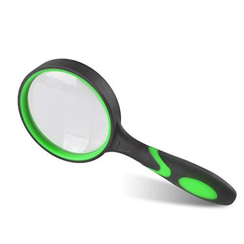Yxsd Handheld Vergrootglas Anti-val Rubber Handvat 20X, Beste Jumbo Size Verlichte Lezen Vergrootglas Voor Veldonderzoek, Sieraden Identificatie, Printing Manufacturing, Ouderen Lezen, Antieke App