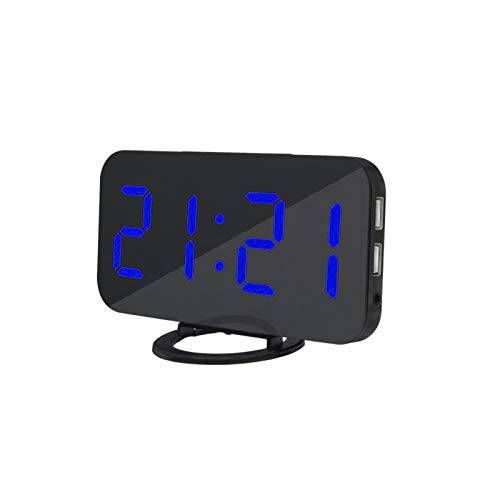 DealmerryUS LED Digital Alarm Clock, Digital Alarm Clock with USB Charger,Large 6.5' LED Display With 3 Brightness & Night Mode Alarm & Snooze Function Easy To Use, For Home Office Bedroom
