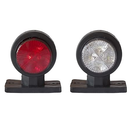 Par de luces LED de posicion lateral de 12V 24V para camiones, remolques, semirremolques, tractores, etc, rojo y blanco