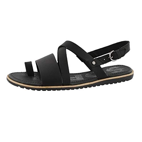 Sorel Womens Ella Criss Cross Sandal Open Toe Cut Out Shoes Slingback - Black - 9