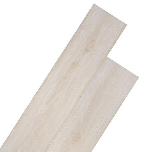 vidaXL Listoni Pavimentazione Autoadesivi in PVC 5,02 m² 2 mm Bianco Listelli
