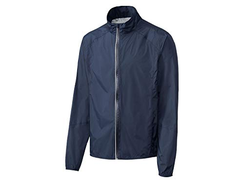 Crivit Herren Fahrradregenjacke Fahrradjacke Regenjacke wasserdicht windicht atmungsaktiv (M 48/50, dunkelblau)