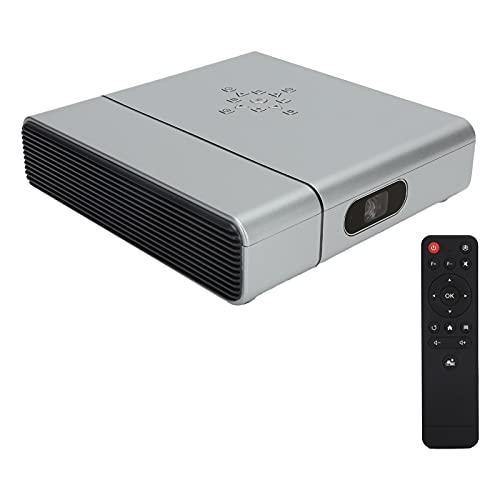 Proyector de video, proyector inteligente, proyector WiFi inalámbrico, proyector DLP, soporte 1080P, con soporte para trípode, 3D, 4K, para el hogar / película / exterior / teléfono(Enchufe de la UE)