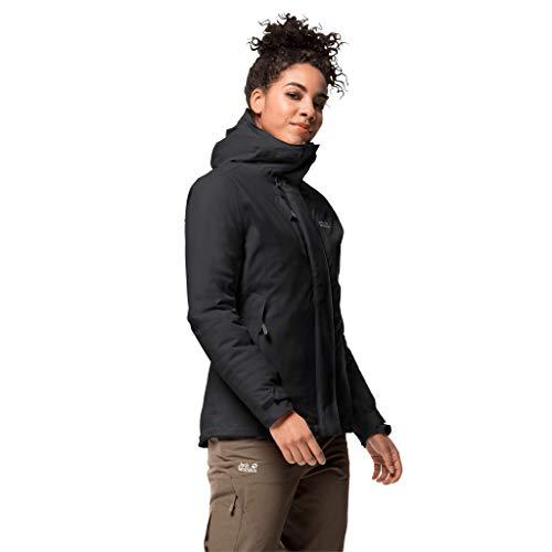 Jack Wolfskin Damen Troposphere Jacket W Wetterschutzjacke, black, L
