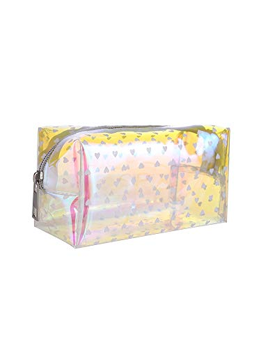 Bolsa de cosméticos Transparente para Mujer, Bolsa de Almacenamiento Bonita para niña de Moda para Viaje, Bolsa de Lavado, Cepillo cosmético, Bolsa de Maquillaje, Bolsa portátil para Mujer 6007-2