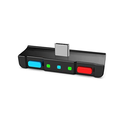 HomeSpot Adaptador De Transmisor Bluetooth 5.0 De Audio Con Conector USB C Micrófono Incorporado APTX Baja Latencia Para Nintendo Switch Compatible Con PS4 Bose Sony (Azul - Rojo)
