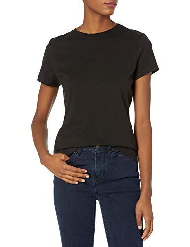 Hanes Women's Nano T-Shirt, Small, Black