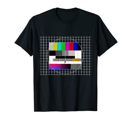 Testbild Fernseher 80er Jahre 90er Party Outfit Retro Kostüm T-Shirt