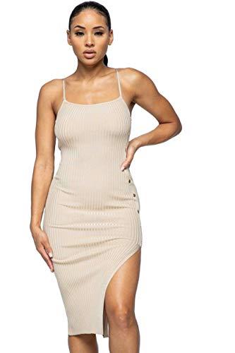 Monologue Apparel Women's Casual Short Sleeve/Sleeveless Midi/Mini Bodycon Knit Dress