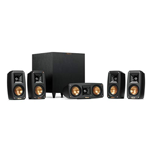 Klipsch Black Reference Theater Pack 5.1 Surround Sound System (Renewed)