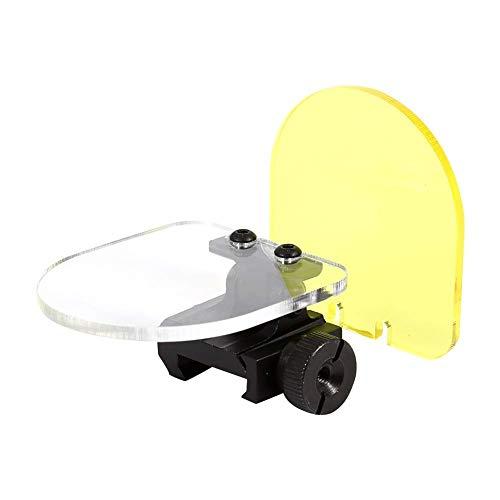 BigTron Taktisches Objektiv, Airsoft Hunting Shooting Screen Kugelsichere Objektivschutz, Faltbare Reflexlinse 20mm QD Halterung Für Red Dot Sight Zielfernrohr Abdeckung