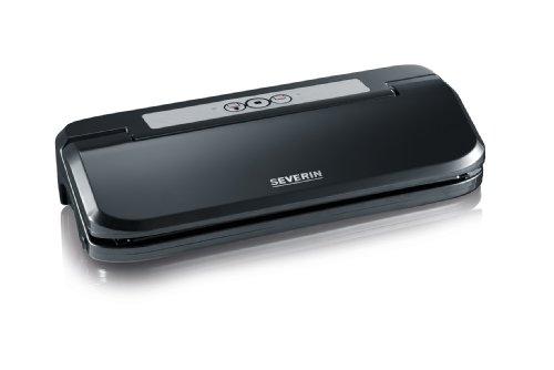 SEVERIN FS 3609 Vakuumiergerät (Schweißnaht B:30 cm, Inkl. 5 Vakuumierbeutel (20 x 30 cm) schwarz