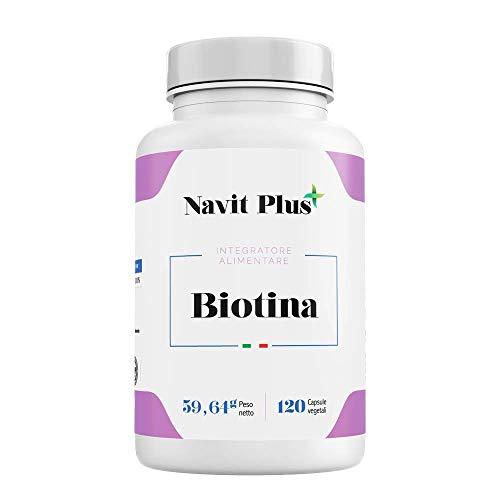 Biotina 10.000mcg, Integratore Anticaduta per Capelli, Perfetto per la cura di capelli, pelle e unghie, 120 capsule vegetali.