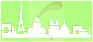 Paris Skyline, Europe, Cookie stencil, Cake Stencil, Coffee Stencil, Candy Stencil, Cupcake stencil for Royal Icing, powders, sugars, edible glitters and Airbrushing