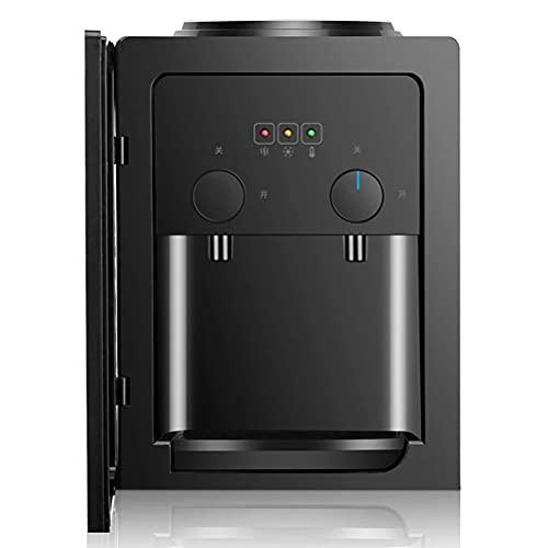 Dispensador de enfriador de agua fría y caliente de encimera de 3 a 5 galones con interruptor de ahorro de energía Dispensador de enfriador de agua 2 en 1 con máquina de hielo incorporada ysj0812