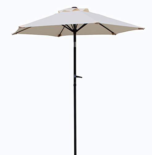 Pure Home & Garden Kurbelschirm Sunny 200 cm Natur, mit UV-Schutz 50 Plus, Knickfunktion und abnehmbarem Bezug