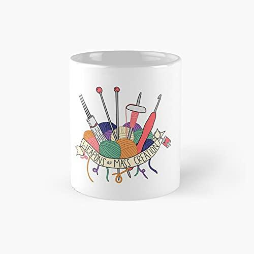 Weapons Of Mass Creation Classic Mug - Gift The Office 11 Ounces Funny White Coffee Mugs-nilinkep
